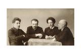Four Russian Poets, Early 20th Century Giclee Print by Dmitri Spiridonovich Zdobnov