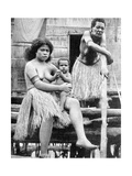 A Mother and Her Child, Papua, New Guinea, 1936 Giclee Print by Ewing Galloway