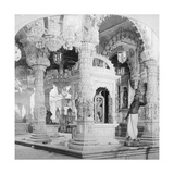 Interior of the Temple of Babulnath, Bombay, India, 1901 Giclee Print by BW Kilburn
