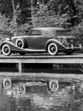 A 1933 Hispano-Suiza K6 Reflected in a Lake Photographic Print