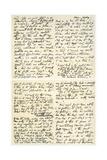 Letter from Elizabeth Barrett Browning to Henry F Chorley, 1859 Giclee Print by Elizabeth Barrett