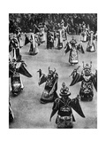 Masked Dancers, Tibet, 1936 Giclee Print by Ewing Galloway
