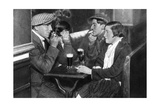 A Foursome in a Bal-Musette, Paris, 1931 Giclee Print by Ernest Flammarion