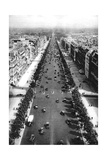 View of the Avenue Des Champs Elysees, Paris, 1931 Giclee Print by Ernest Flammarion
