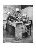 Children in Traditional Dress, Marken, Holland, 1936 Giclee Print by Donald Mcleish