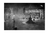 Piccadilly Circus, London, at Night, 1908-1909 Giclee Print by Charles F Borup