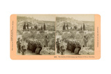 The Garden of Gethsemane and the Mount of Olives, Palestine, 1898 Giclee Print by BW Kilburn