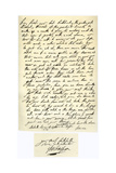 Letter from George Villiers, Duke of Buckingham, to James I, 25th April 1623 Giclee Print by George Villiers Buckingham