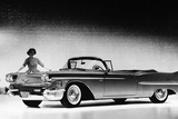 Model with a Cadillac Car, 1958 Reproduction photographique