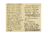 Letter from Charles Lamb to John Clare, 31st August 1822 Giclee Print by Charles Lamb