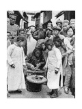 Street Gambling, China, 1922 Giclee Print by BT Prideaux