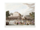 View of the River Thames at Brandenburgh House, Hammersmith, London, 1821 Giclee Print by Matthew Dubourg