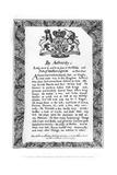 Calligraphic Exhibition Bill of Matthew Buchinger, 'Dwarf of Nurnburg, 1717 Giclee Print by Matthew Buchinger