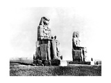 The Colossi of Memnon, Thebes, Nubia, Egypt, 1887 Giclee Print by Henri Bechard