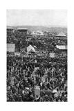 Crowds on Derby Day, Epsom Downs, Surrey, C1922 Giclee Print by Horace Walter Nicholls