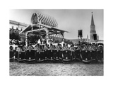 Service in Red Square to Celebrate the Centenary of the War in 1812, Moscow, Russia, 1912 Giclee Print by K von Hahn