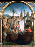 St Ursula Shrine, Arrival in Basle, 1489 Photographic Print by Hans Memling