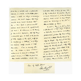 Letter from John Bright to Colonel Rathbone, 23rd January 1861 Giclee Print by John Bright