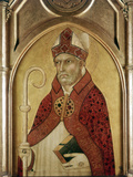 St Augustine of Hippo, Early 14th Century Fotografisk tryk af Lippo Memmi