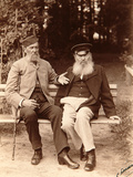 Yakov Polonsky and Afanasy Fet, Russian Poets, C1890 Photographic Print by Sergei Dmitrievich Botkin