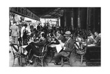 People at a Pavement Cafe, Paris, 1931 Giclee Print by Ernest Flammarion