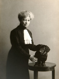 Alexandra Beketova-Blok, Russian Author and Translator, with Her Pet Dog, Early 19th Century Photographic Print by Karl August Fischer
