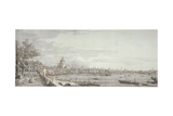 View of the River Thames, London, C1750 Giclee Print by  Canaletto