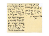 Letter from John Keats to His Sister, Fanny Keats, 14th August 1820 Giclee Print by John Keats