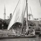 On the Mahmoudiyah Canal, Alexandria, Egypt, 20th Century Photographic Print by J Dearden Holmes