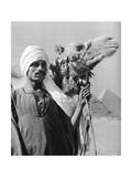 Cameldriver Near the Pyramids, Egypt, 1937 Giclee Print by Martin Hurlimann