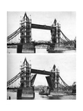 Tower Bridge Open and Closed, London, 1926-1927 Giclee Print by  McLeish