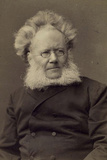 Henrik Ibsen, Norwegian Playwright and Poet, Late 19th or Early 20th Century Photographic Print by Franz Hanfstaengl