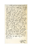 Letter from John Knox to Sir Nicholas Throgmorton, 6th August 1561 Giclee Print by John Knox