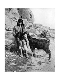 Arab Boy and Goat, Middle East, 1936 Giclee Print by Donald Mcleish