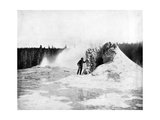Crater of the Giant Geyser, Yellowstone National Park, USA, 1893 Giclee Print by John L Stoddard