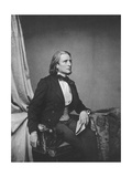 Franz Liszt, Hungarian Composer and Pianist, C1860 Giclee Print by Franz Hanfstaengl