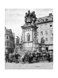 The Gutenberg Monument, Frankfurt, Germany, Late 19th Century Giclee Print by John L Stoddard