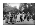 Tsar Nicholas II and His Family Visiting the Kiev Monastery of the Caves, Kiev, Russia, 1911 Giclee Print by K von Hahn