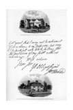 A Letter by John Howard, and a View of His Residence at Cardington, Mid-Late 18th Century Giclee Print by John Howard
