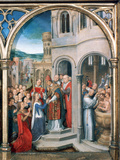 St Ursula Shrine, Arrival in Rome, 1489 Photographic Print by Hans Memling