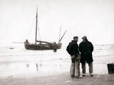 Men on the Shore, Scheveningen, Netherlands, 1898 Photographic Print by James Batkin