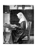 Nun Making Lace, Bruges, Belgium, 1936 Giclee Print by Donald Mcleish