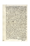 Letter from Dr John Donne to Sir Robert Cotton, C1602 Giclee Print by John Donne