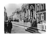 Procession of the Tsar's Family in the Kremlin, Moscow, Russia, 1912 Giclee Print by K von Hahn