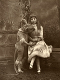 Alice and the Dormouse, 1887 Photographic Print by Ernest Barraud