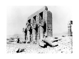 Temple Ruins, Nubia, Egypt, 1887 Giclee Print by Henri Bechard