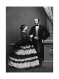 Queen Victoria and Albert, Prince Consort, 1861 Giclee Print by John Jabez Edwin Mayall