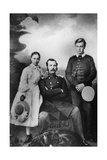 Tsar Alexander II of Russia with His Daughter Maria and Son Alexei, 1863 Giclee Print by Ivan Fyodorovich Alexandrovsky