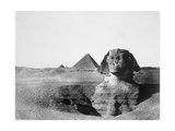The Great Sphinx and the Pyramids of Giza, Egypt, 1852 Giclee Print by Maxime Du Camp