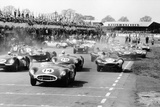 Scene at the Start of a Sports Car Race, Silverstone, Northamptonshire, (Late 1950S) Papier Photo par Maxwell Boyd